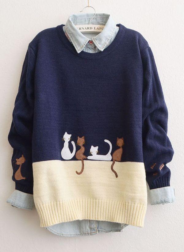 Вязаный свитер осень/зима 2019-2020 1377538