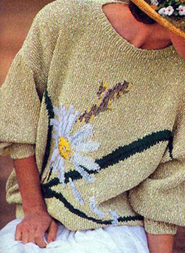 Вязаный свитер осень/зима 2019-2020 1383459