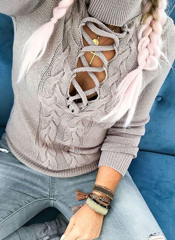 Вязаный свитер осень/зима 2019-2020 1384208