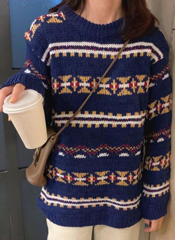 Вязаный свитер осень/зима 2019-2020 1479429