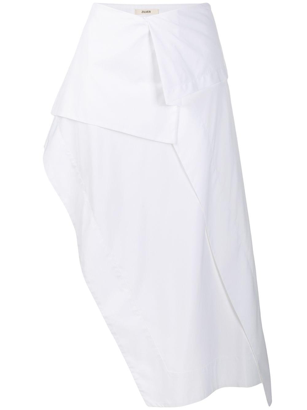 Zilver юбка асимметричного кроя