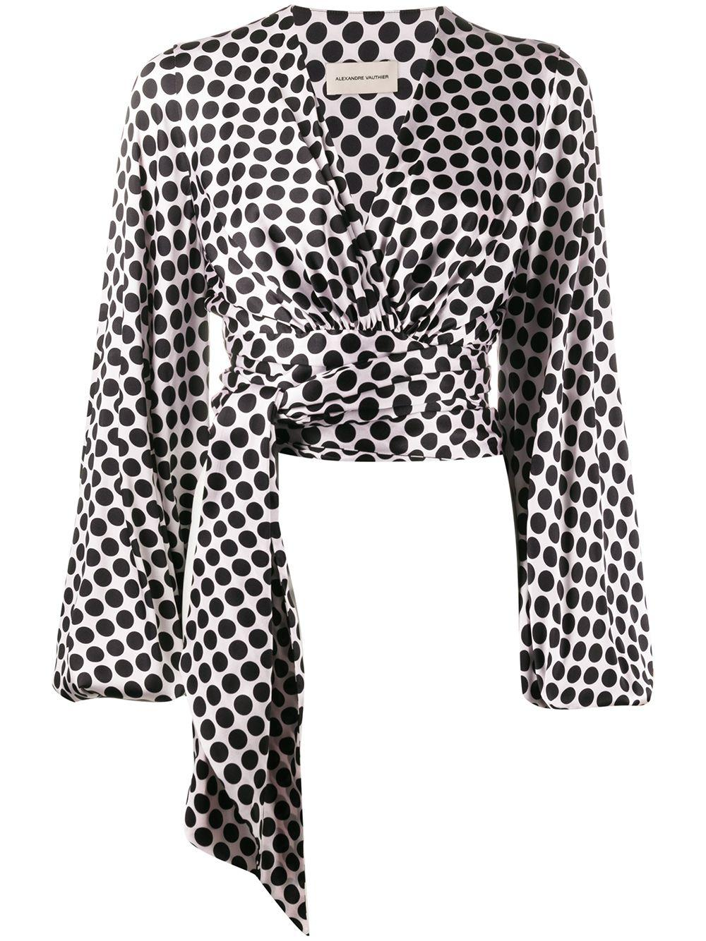 Alexandre Vauthier wrap waist blouse