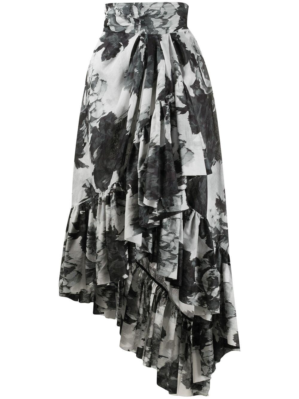 Alexandre Vauthier юбка с цветочным принтом