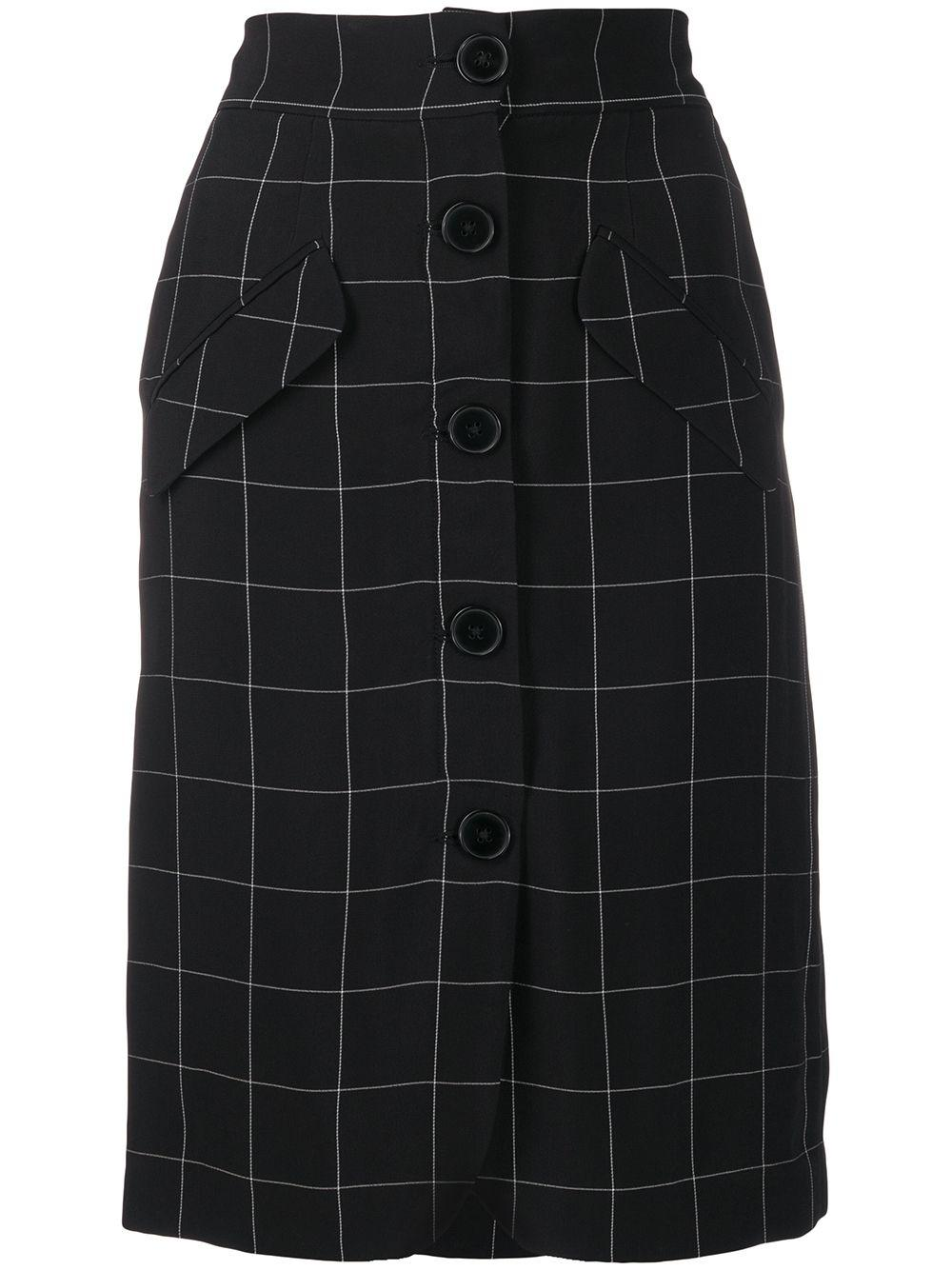 Almaz юбка-карандаш на пуговицах в клетку Windowpane