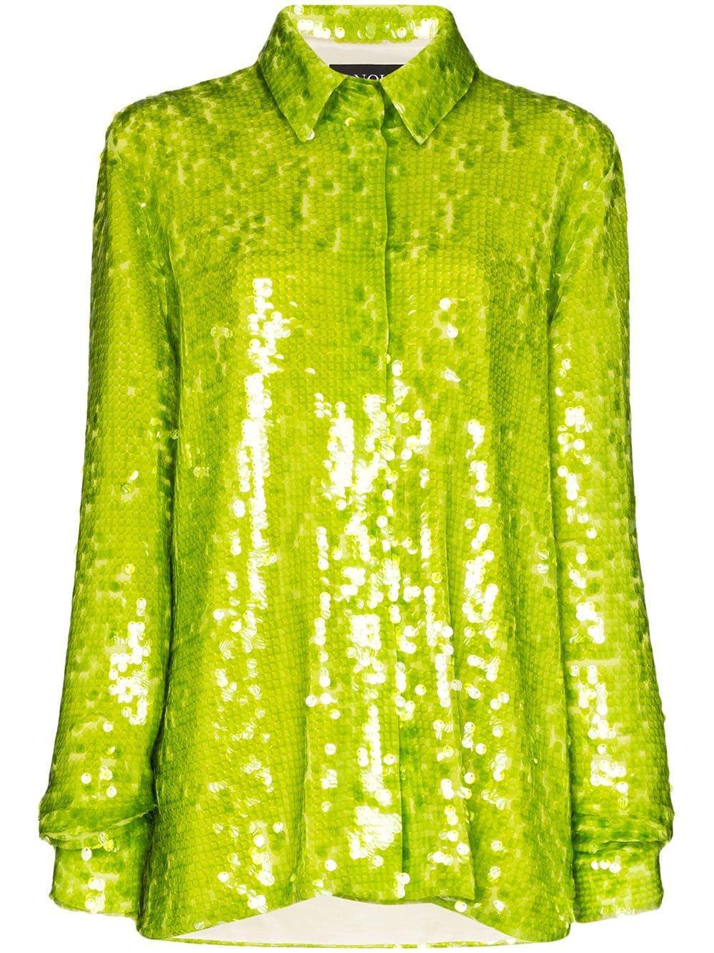 Anouki oversized sequinned shirt