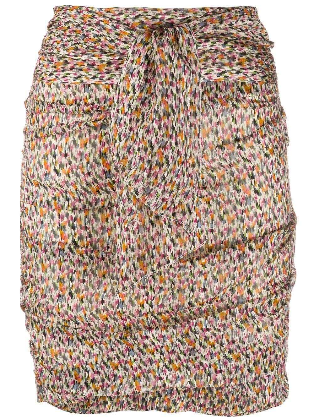 Ba&Sh мини-юбка Dina со сборками