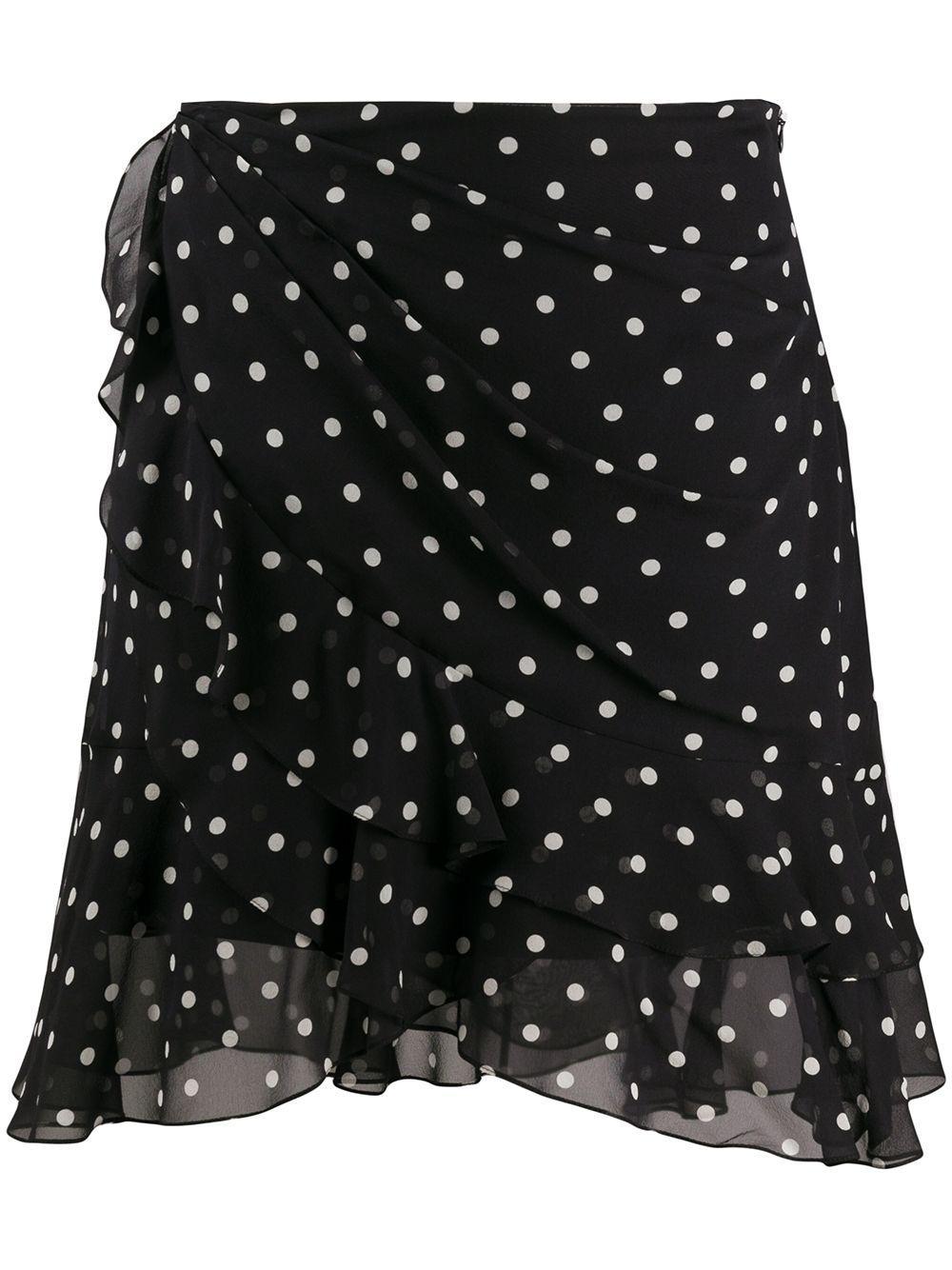Balmain драпированная юбка в горох