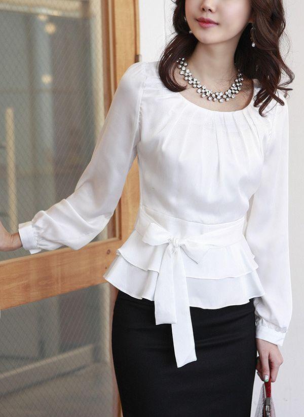Белая блузка 1056220