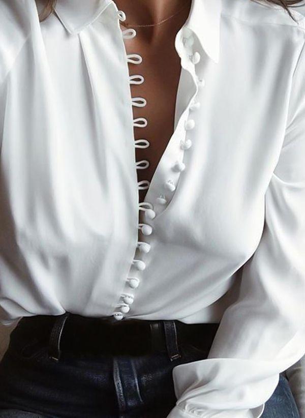 Белая блузка 1201109
