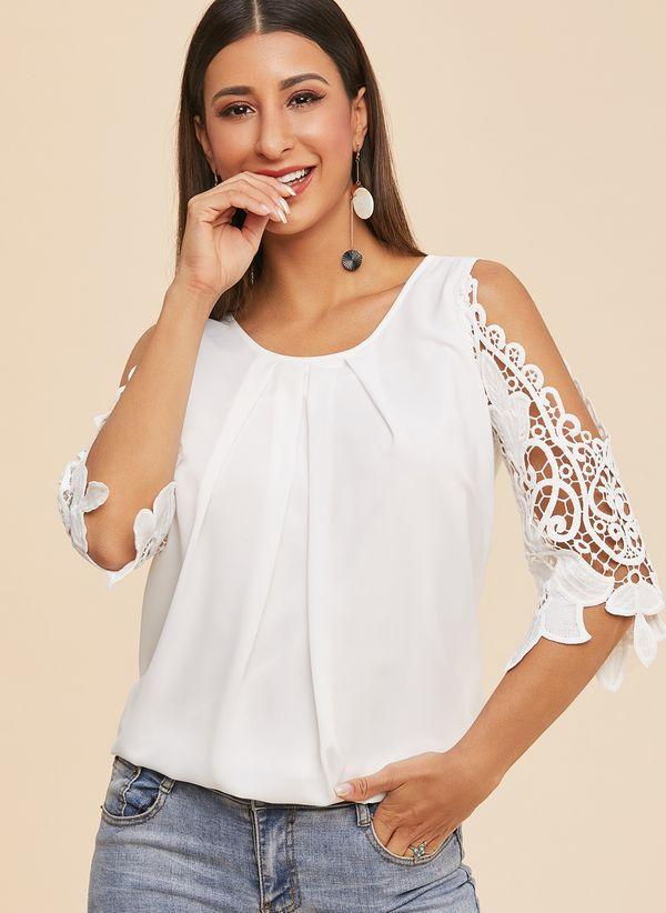 Белая блузка 1212323