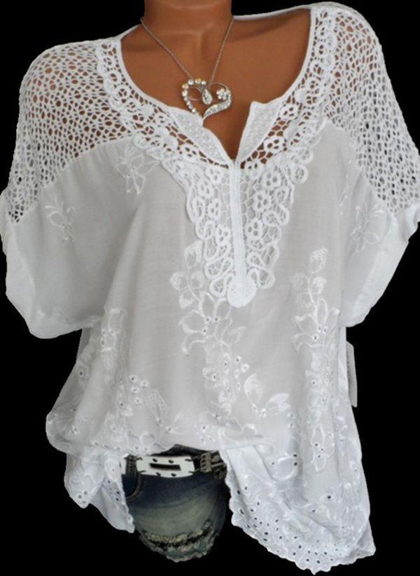 Белая блузка 1220425