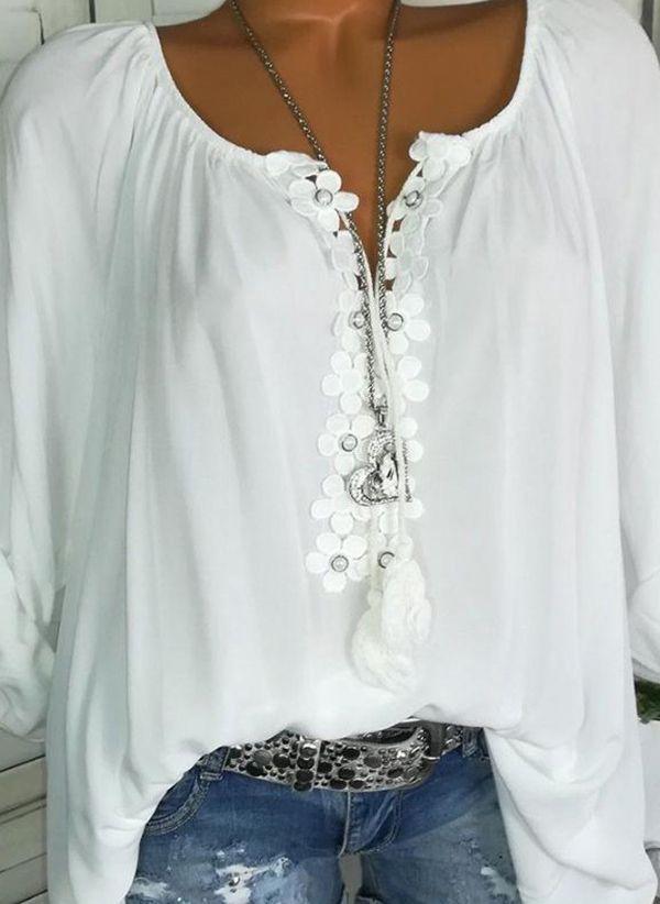 Белая блузка 1230353