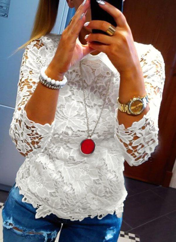 Белая блузка 1265232