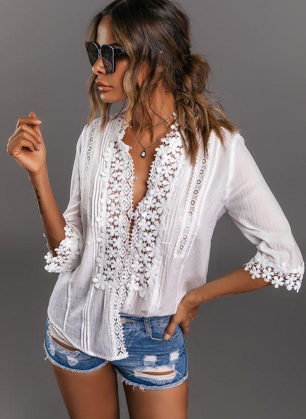 Белая блузка 1266082