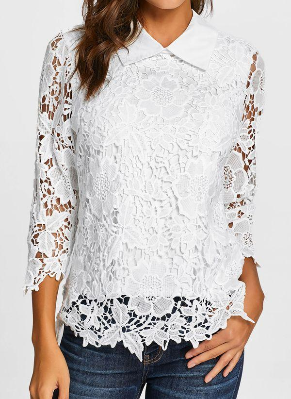 Белая блузка 1287611