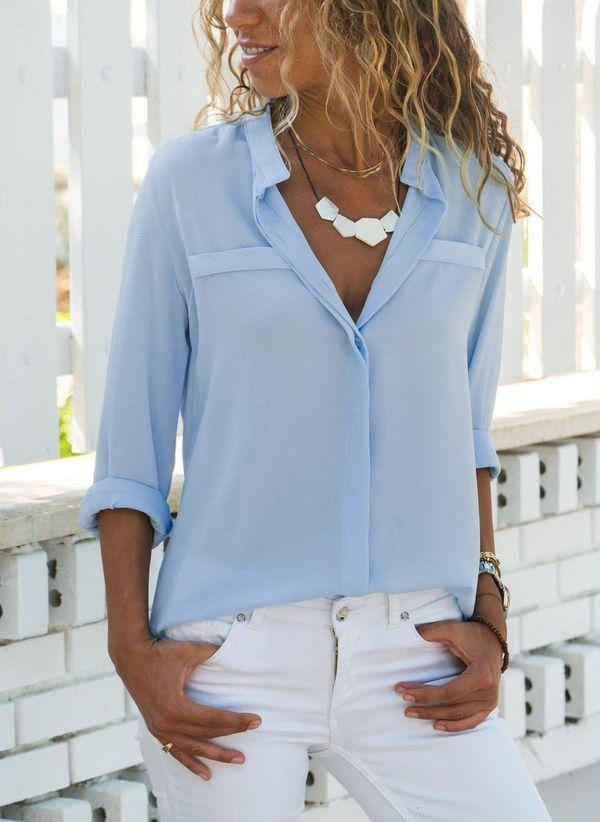 Белая блузка 1289816