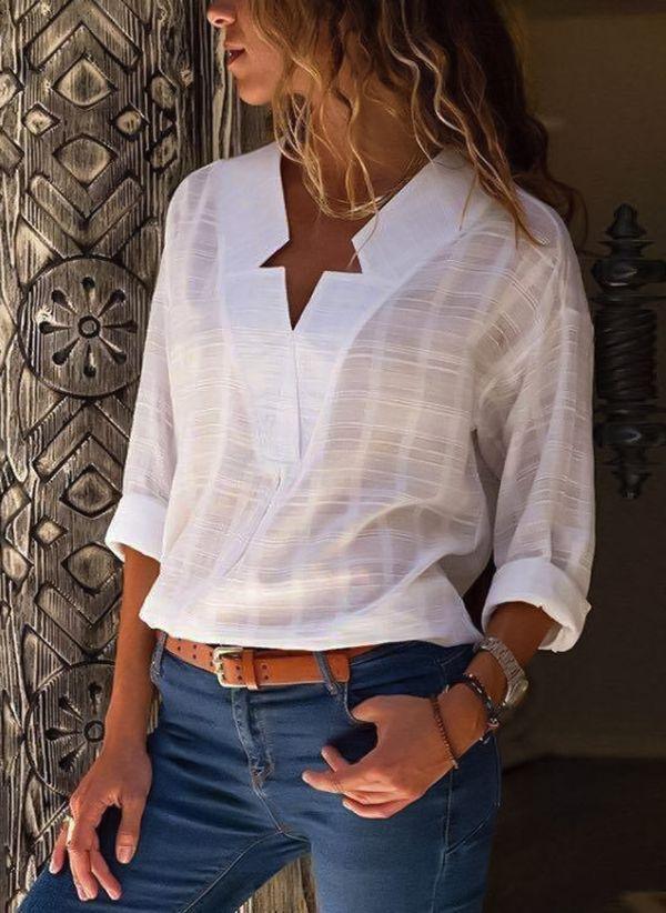 Белая блузка 1290640