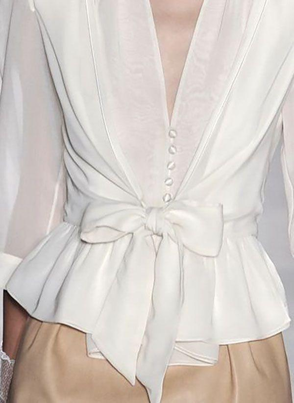 Белая блузка 1312027
