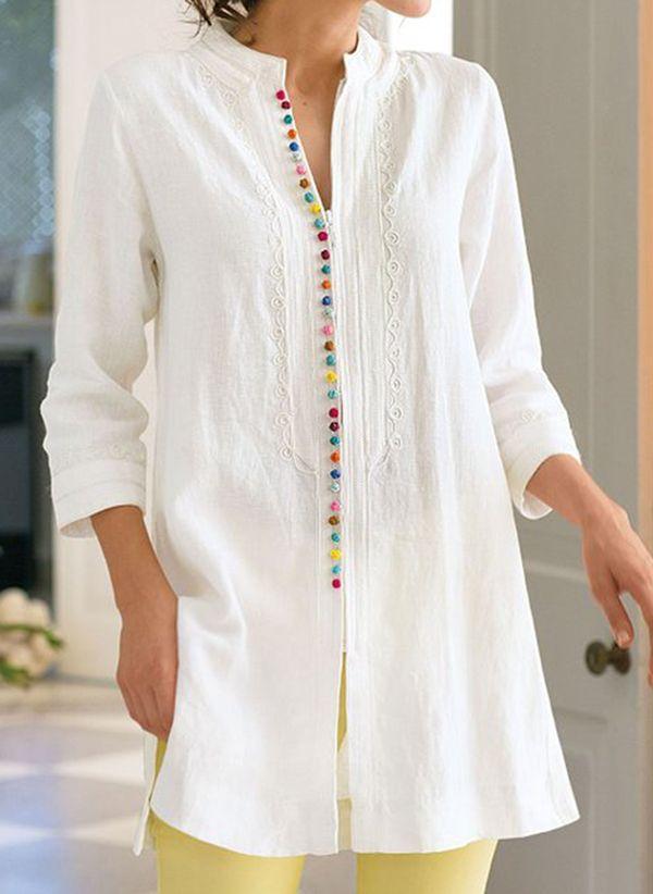 Белая блузка 1317160