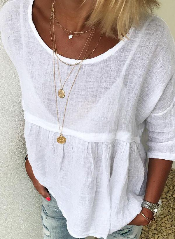 Белая блузка 1318904