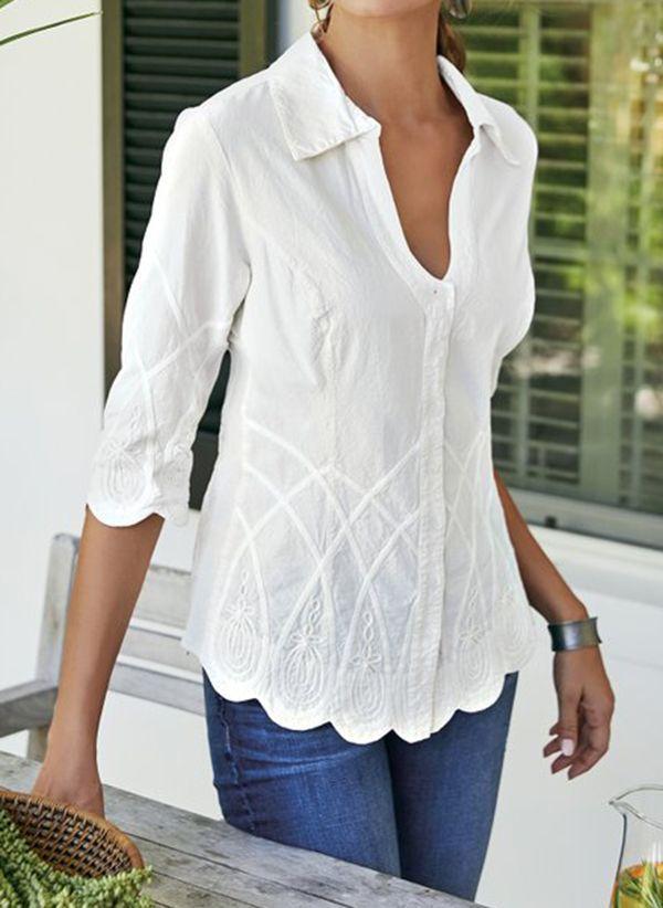 Белая блузка 1321339
