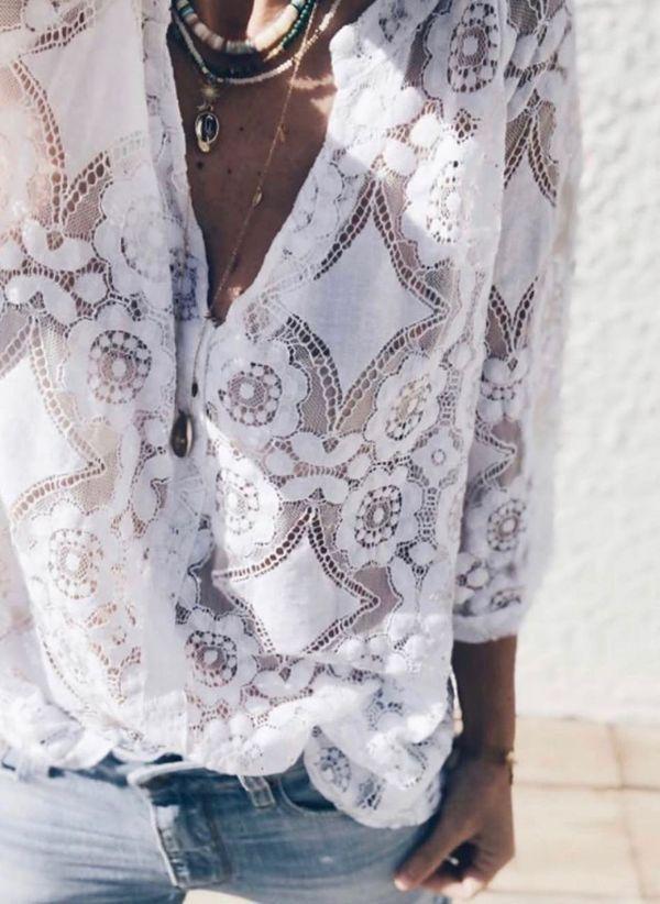 Белая блузка 1323772