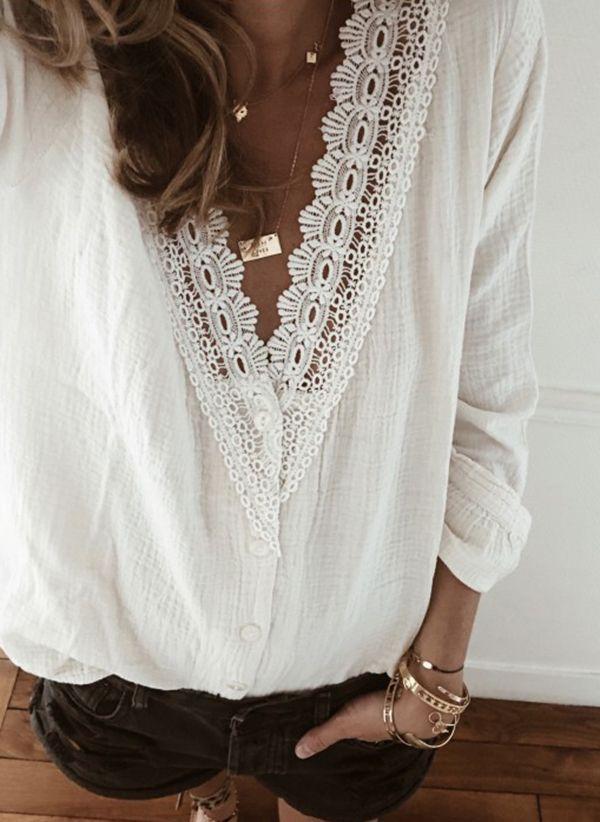 Белая блузка 1334054