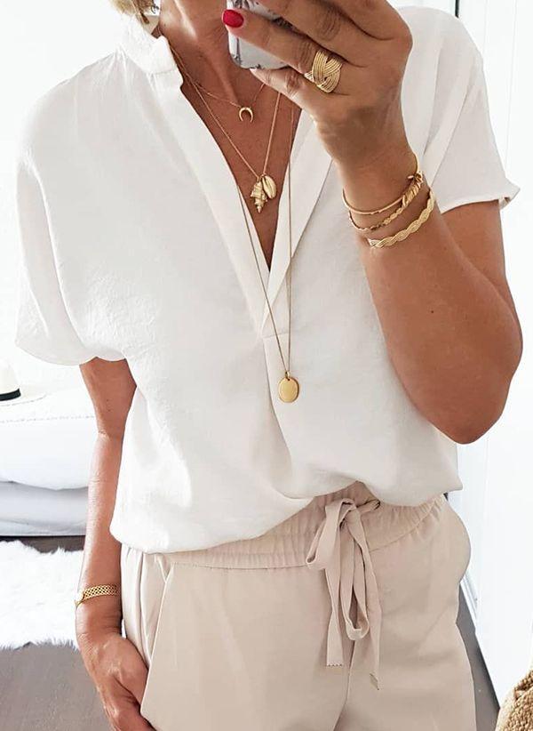 Белая блузка 1485414