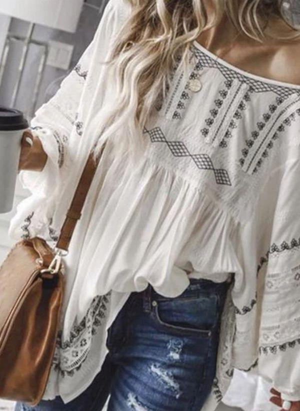 Белая блузка 1487314