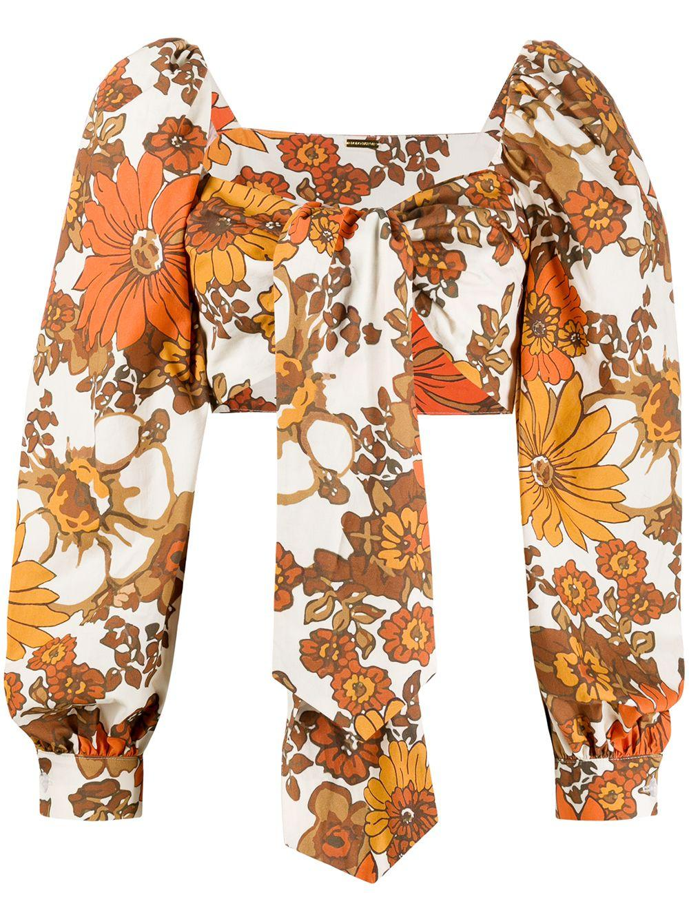 Dodo Bar Or floral-print cropped top