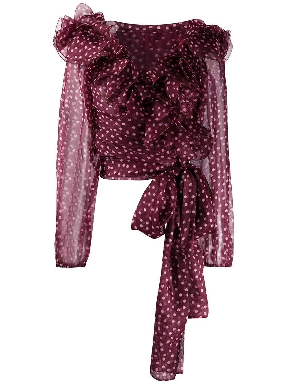 Dolce & Gabbana polka dot ruffled blouse