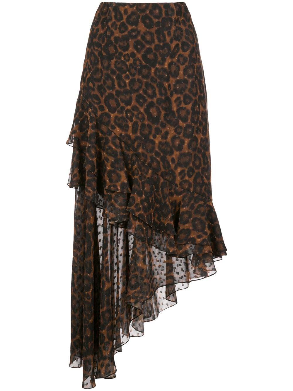 Erdem юбка Antoniette с леопардовым принтом
