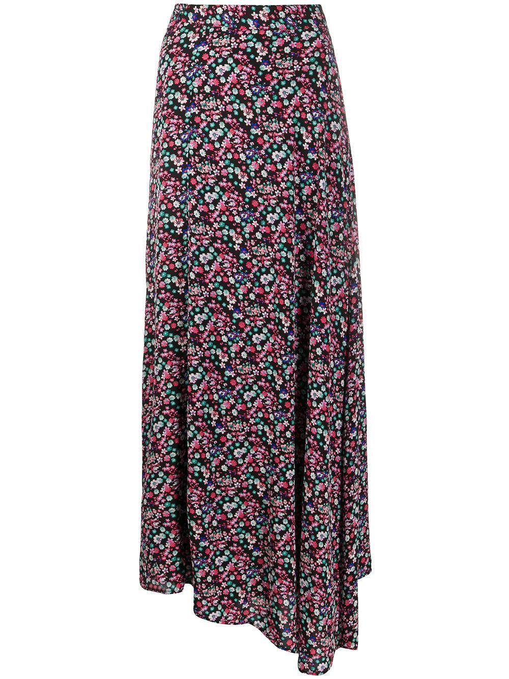 Essentiel Antwerp юбка с запахом и цветочным принтом