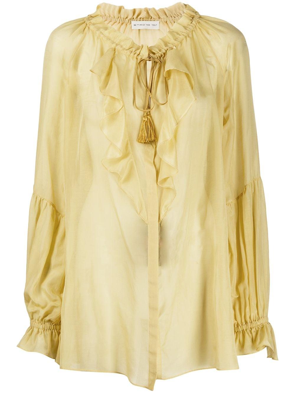 Etro блузка свободного кроя с оборками