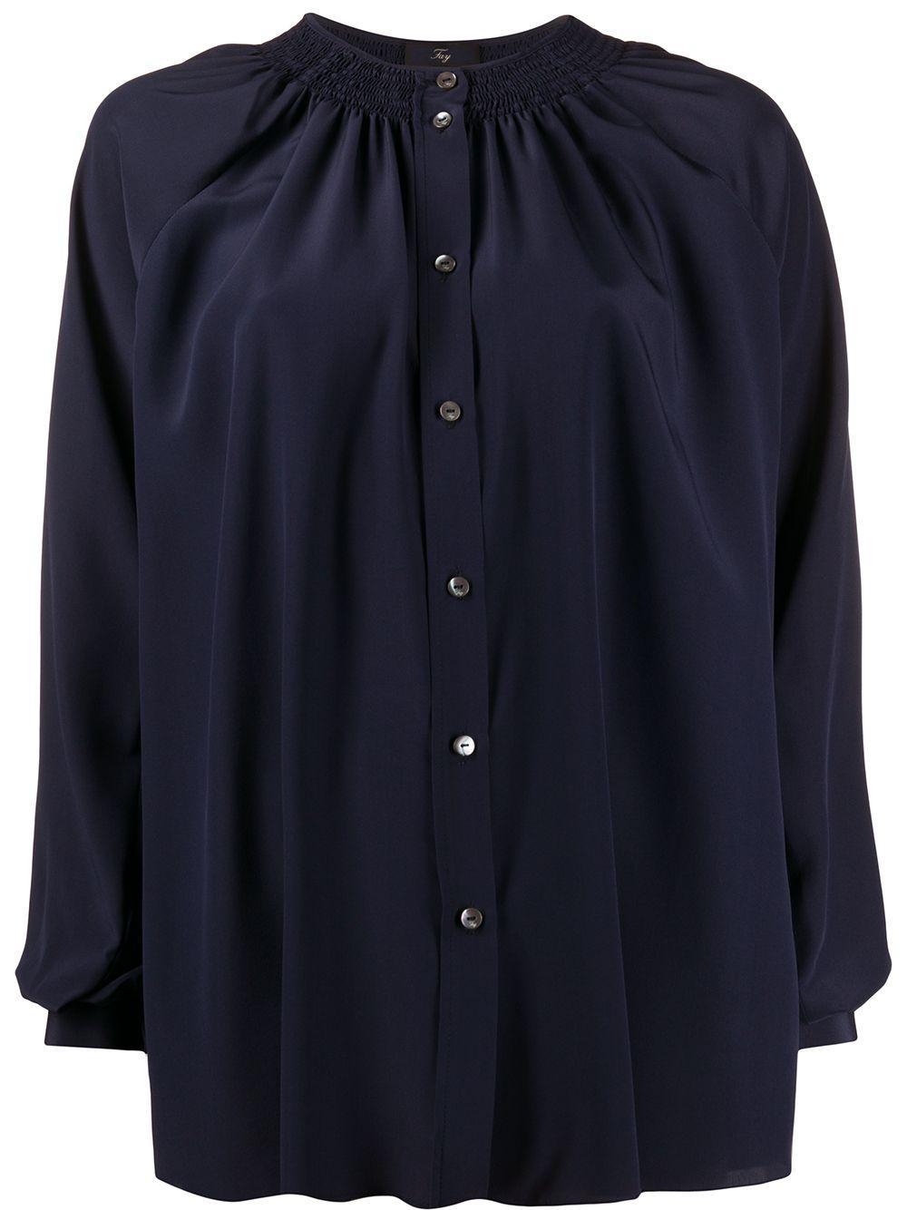 Fay блузка без воротника