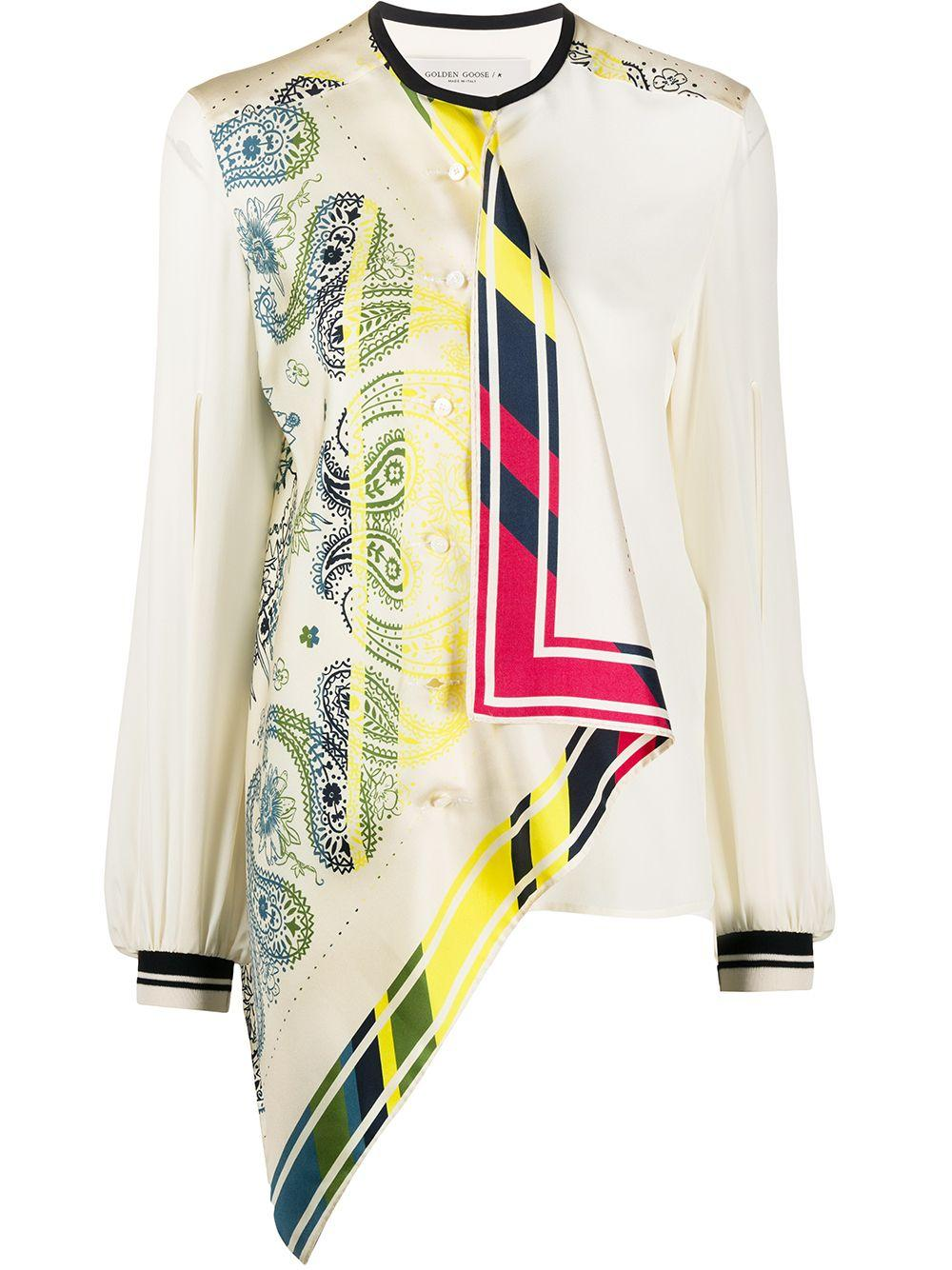 Golden Goose printed asymmetric blouse