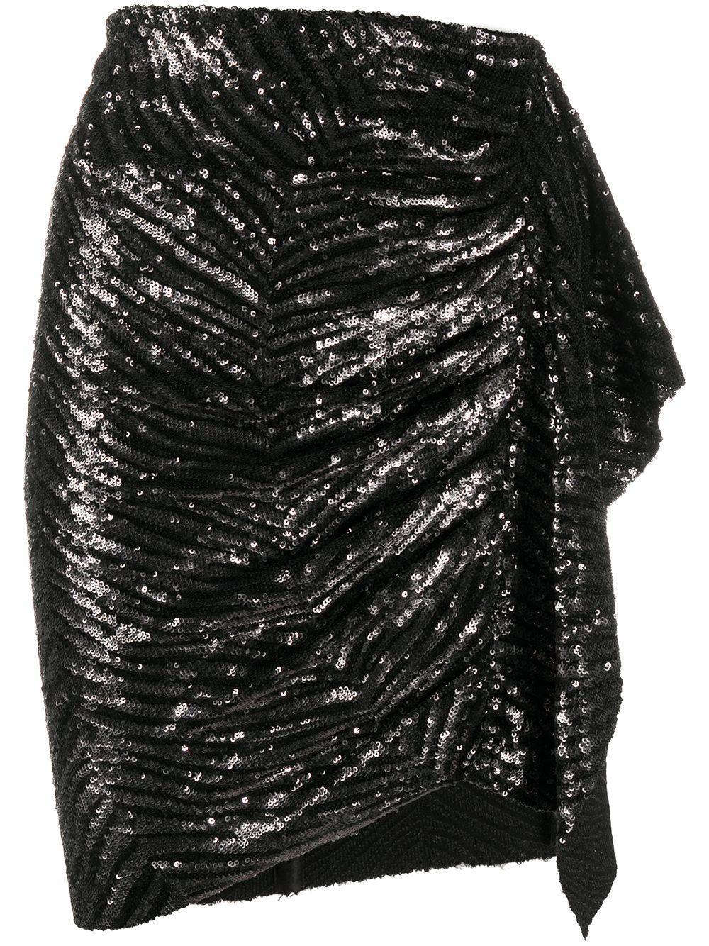 IRO юбка с драпировкой и пайетками