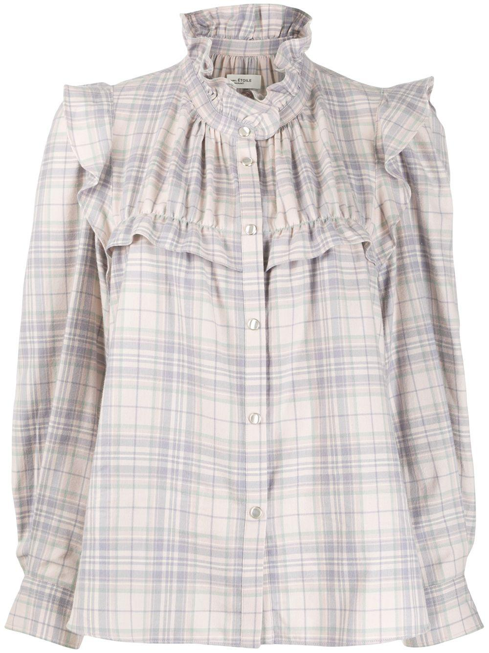 Isabel Marant Étoile Atedy checked blouse