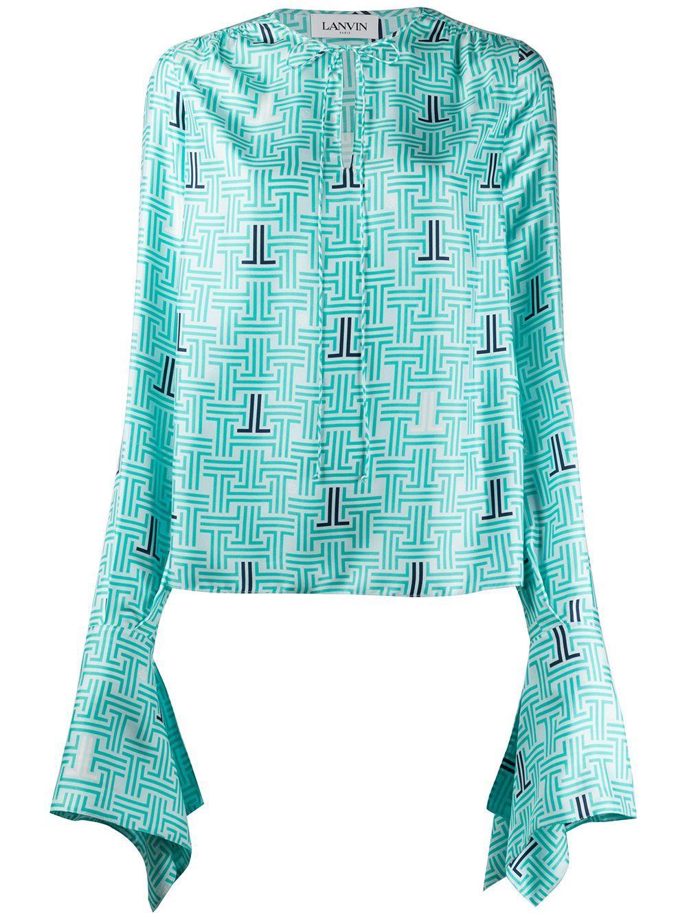 LANVIN блузка JL с принтом