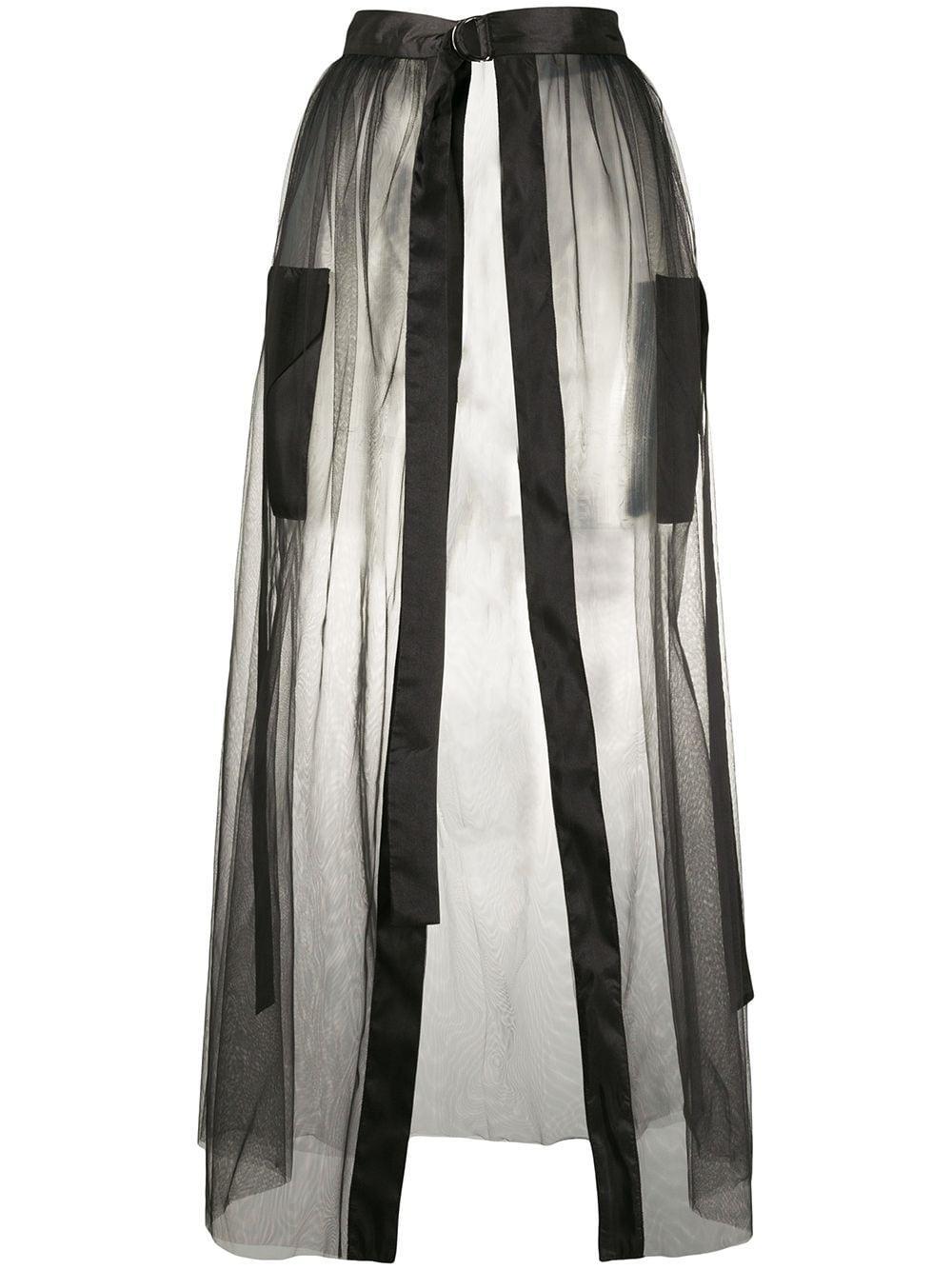 Loulou полупрозрачная юбка с разрезом спереди