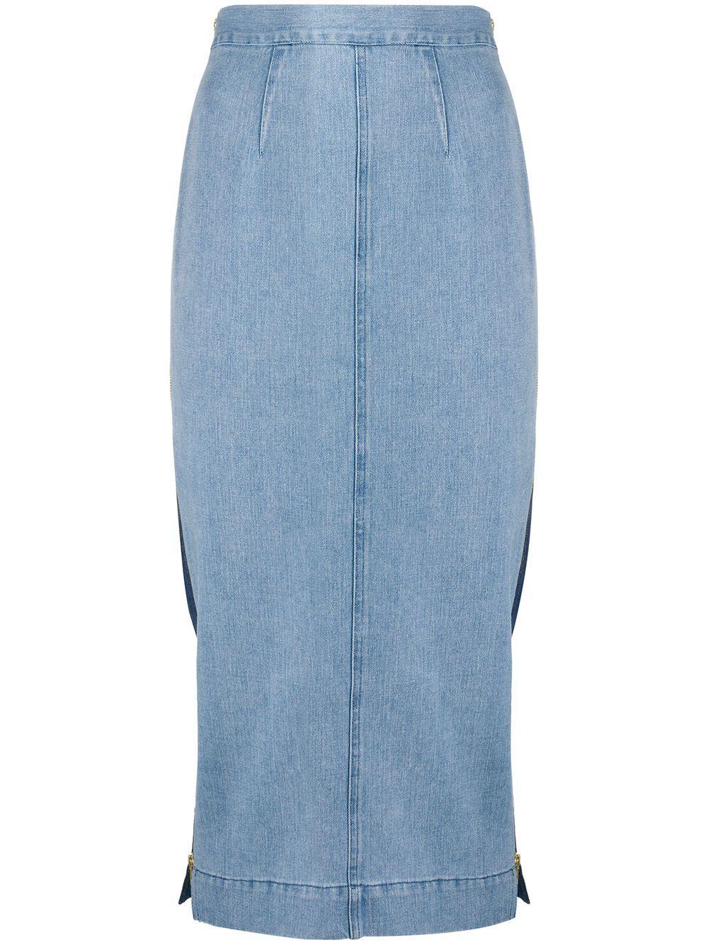 Mara Hoffman джинсовая юбка Uma