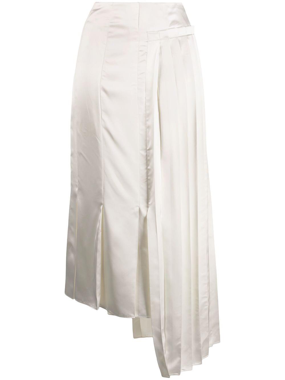 Marni плиссированная юбка с драпировкой