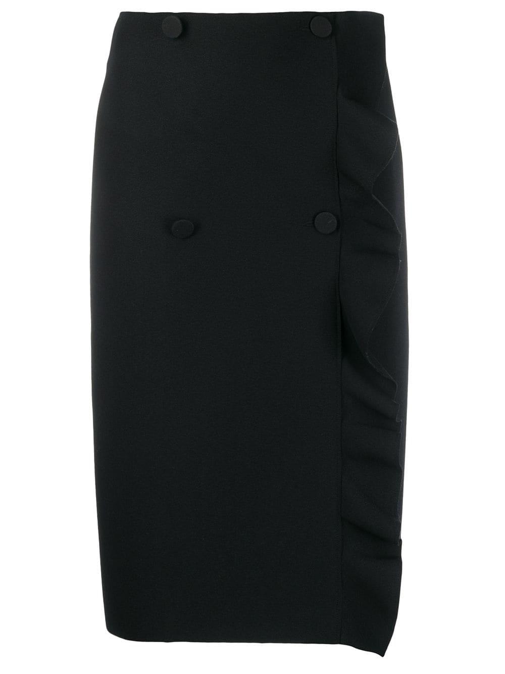 MSGM двубортная юбка-карандаш с оборками