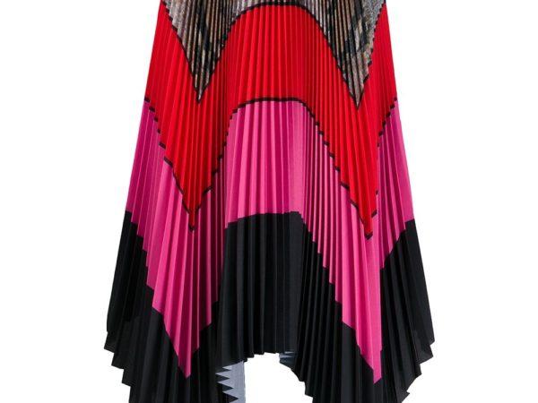 MSGM плиссированная юбка макси в стиле колор-блок