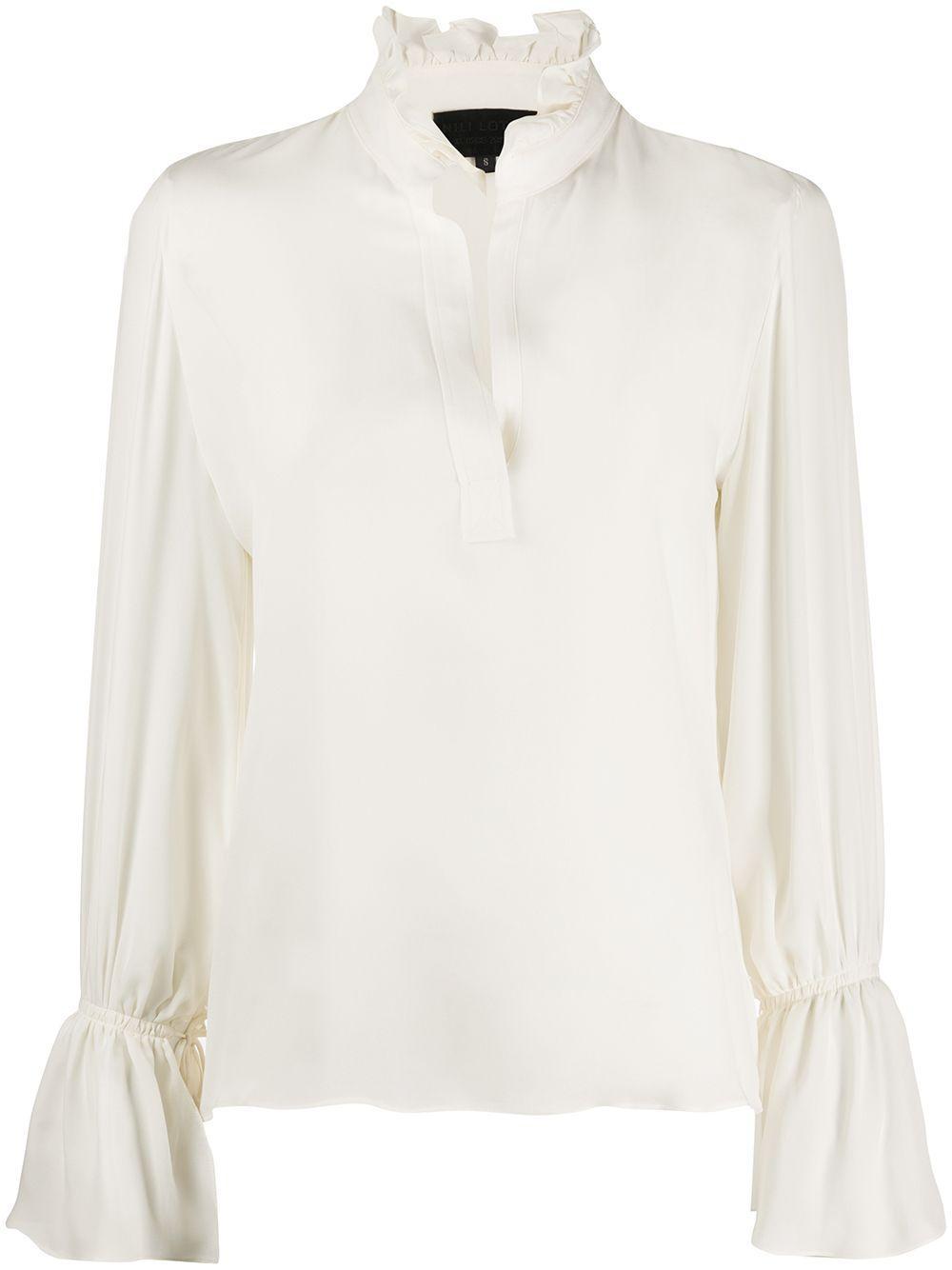 Nili Lotan блузка с оборками на воротнике