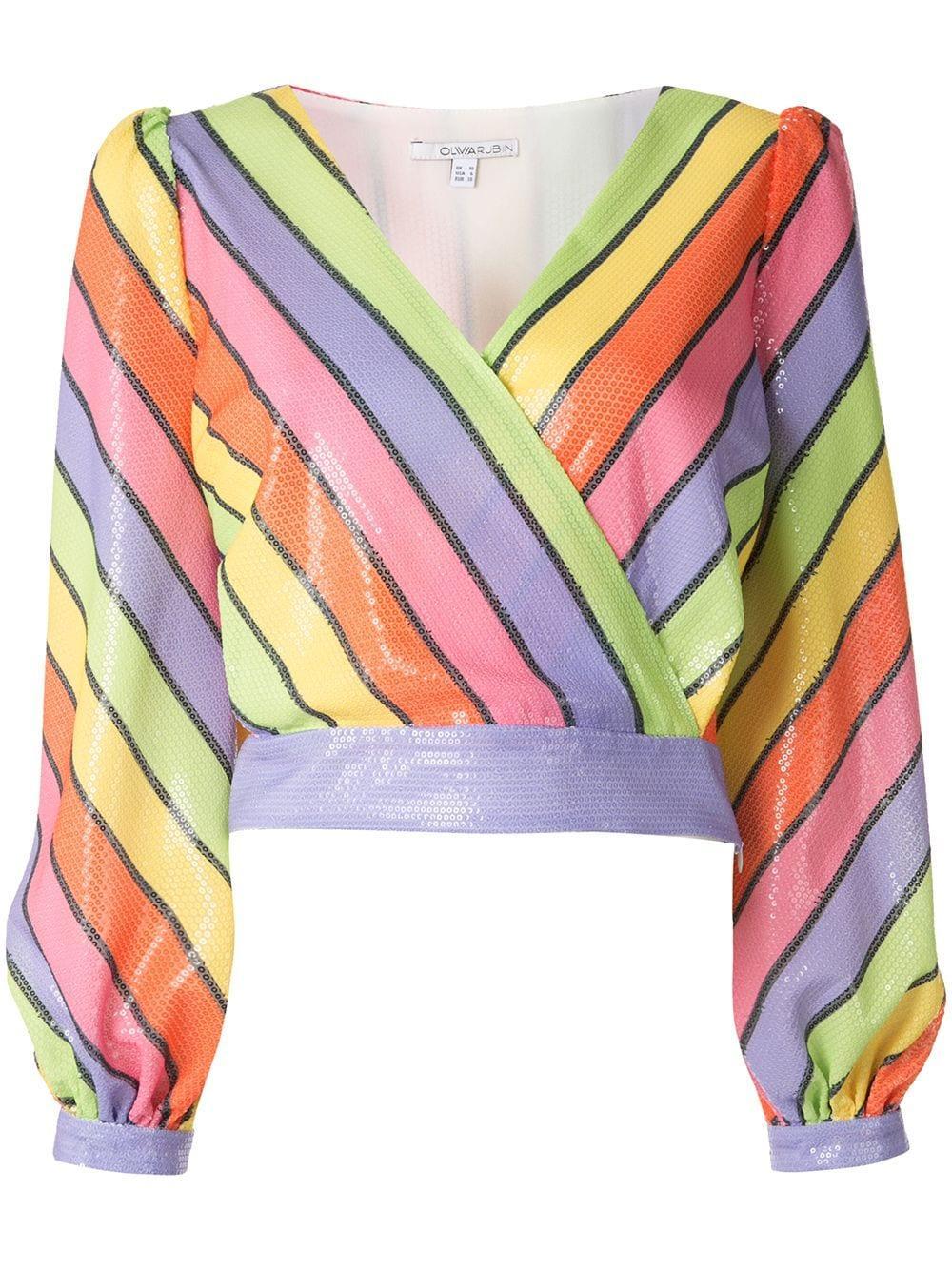 Olivia Rubin блузка Kendall в полоску