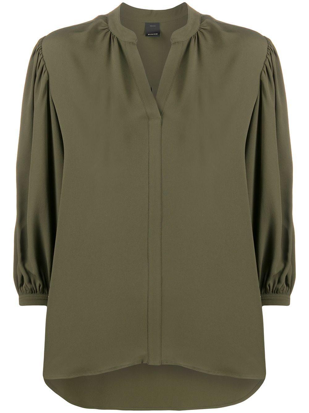 Pinko блузка с V-образным вырезом