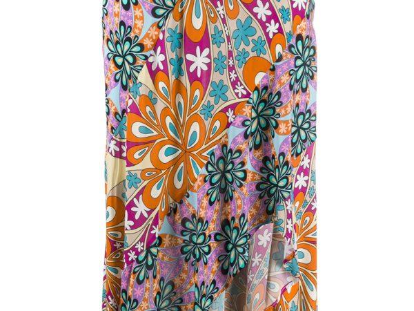 Pinko юбка асимметричного кроя в технике пэчворк