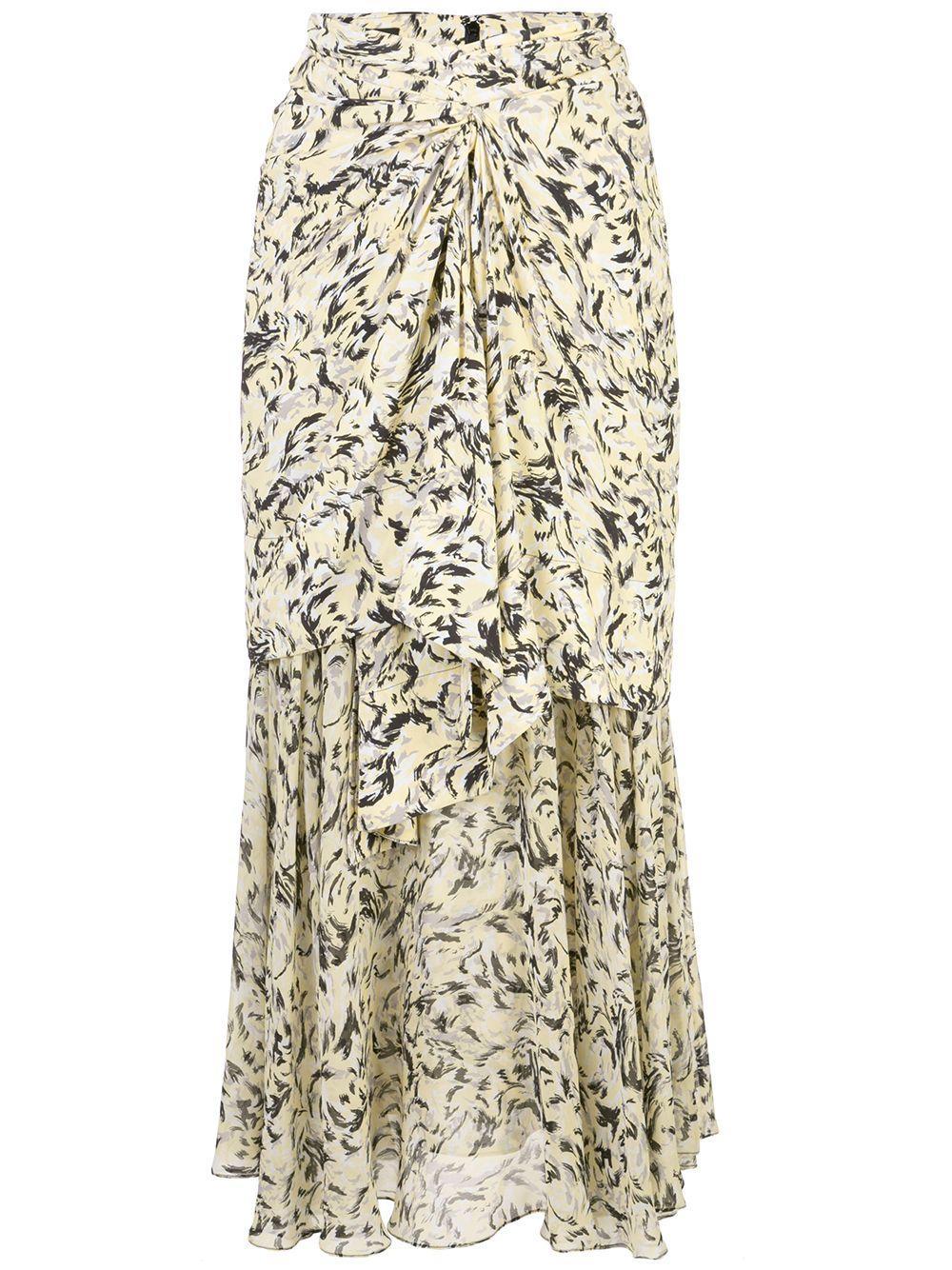 Proenza Schouler многослойная длинная юбка с принтом