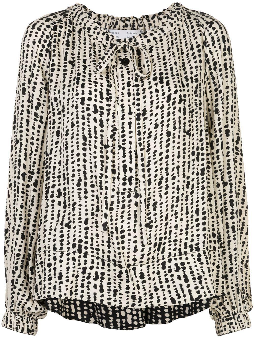 Proenza Schouler White Label блузка с узором в мелкую точку